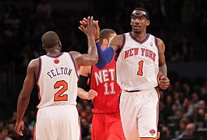 Amar'e Stoudamire and Raymond Felton