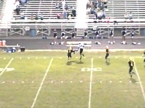Crazy High School Football Hit