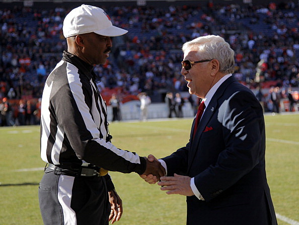 Robert Kraft and Mike Carey
