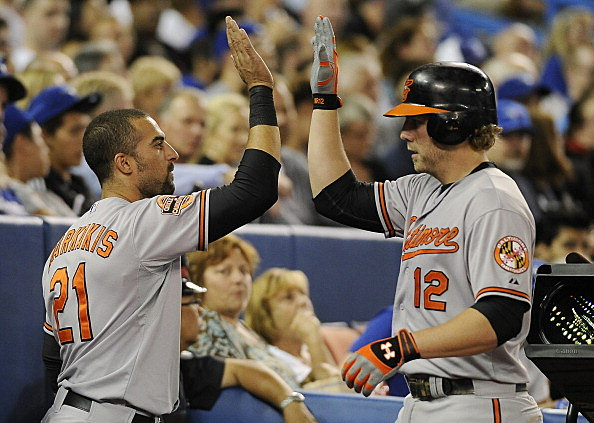 Nick Markakis and Mark Reynolds