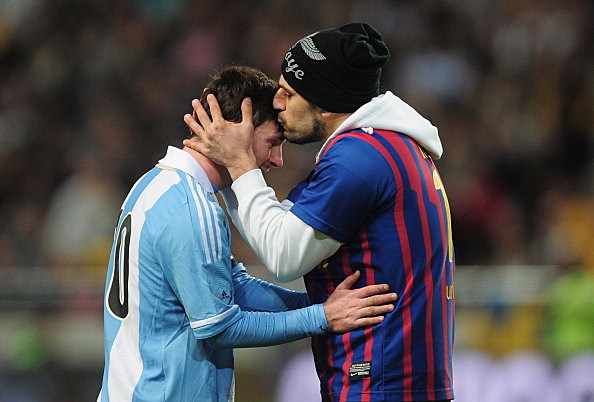 Lionel Messi Kiss