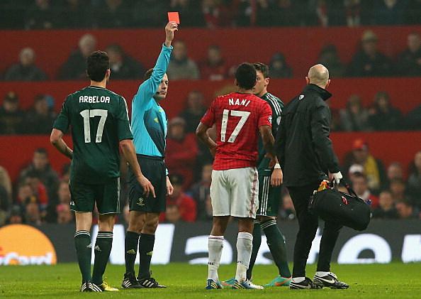 Nani red card