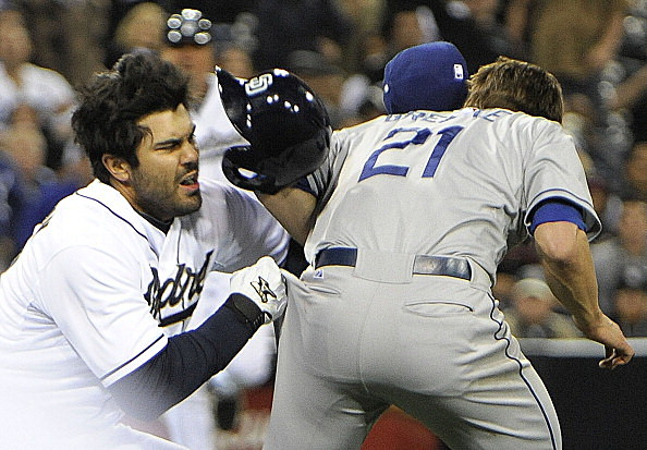 Dodgers Padres Fight