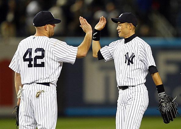 Kevin Youkilis and Ichiro Suzuki