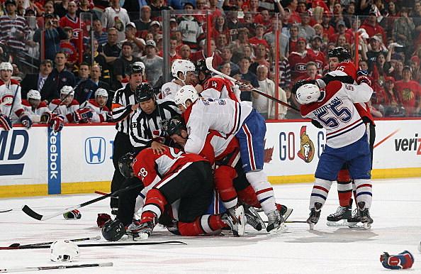 Montreal Canadiens Ottawa Senators Fight