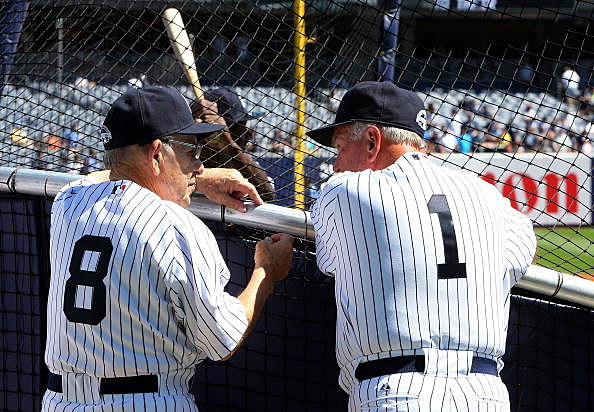 Bobby Richardson and Yogi Berra