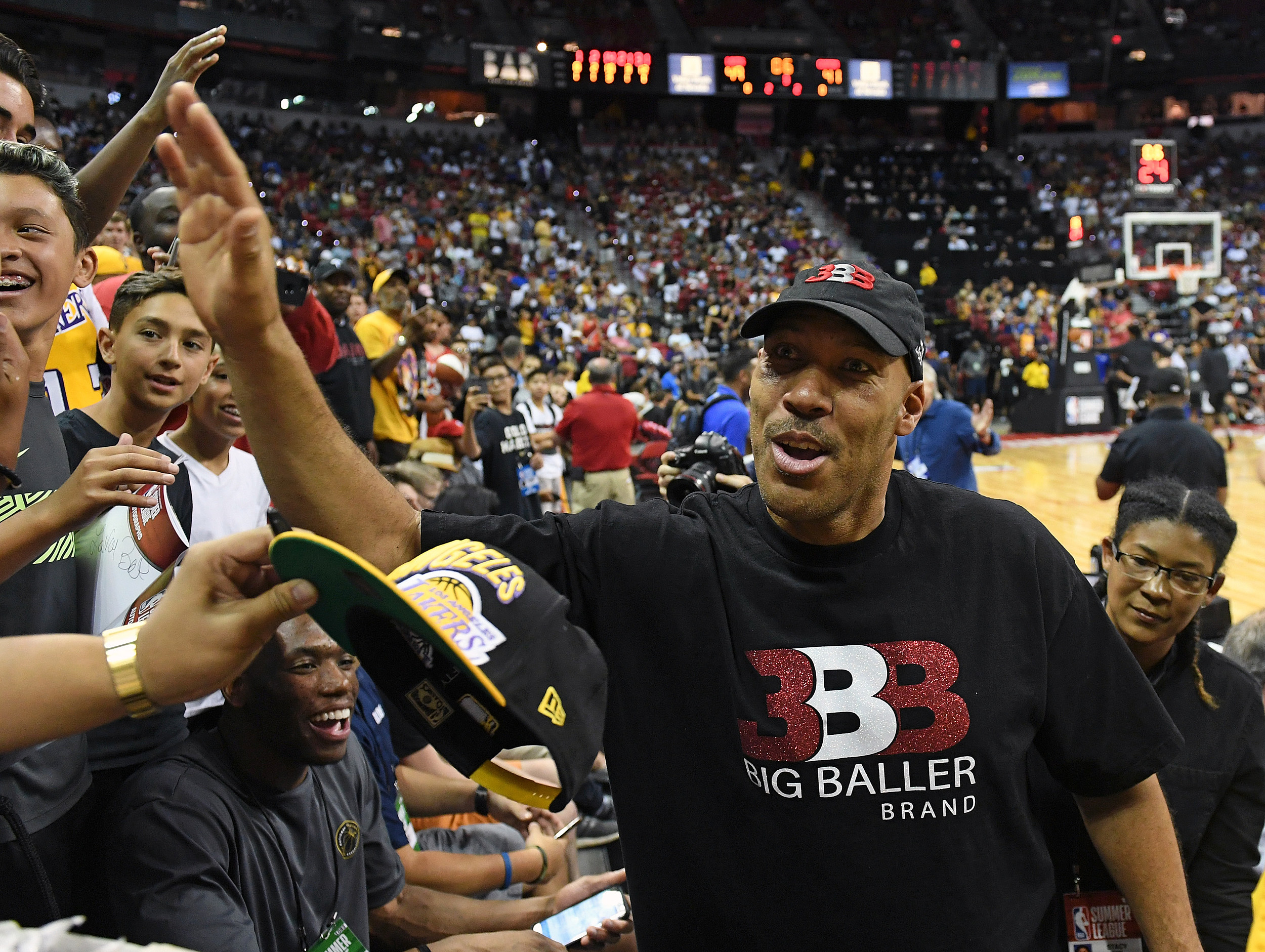 LaVar Ball Launches Multiple Air Balls, Loses Shooting Contest To Ice Cube
